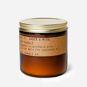 PF Candle Co Amber & Moss soy candle