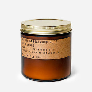 PF Candle Co Sandalwood Rose Soy Candle sold by Urban Coo