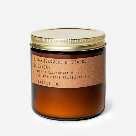 PF Candle Teakwood & Tobacco soy candle for Urban Coo