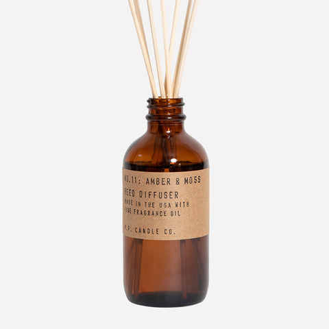 PF Candle Amber & Moss reed diffuser for Urban Coo