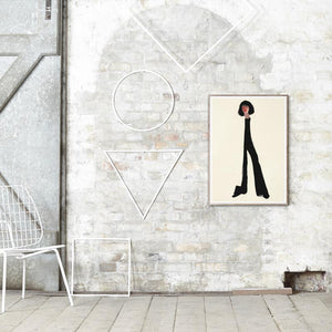 Amelie Hegardt Black Pants contemporary artwork for Paper Collective
