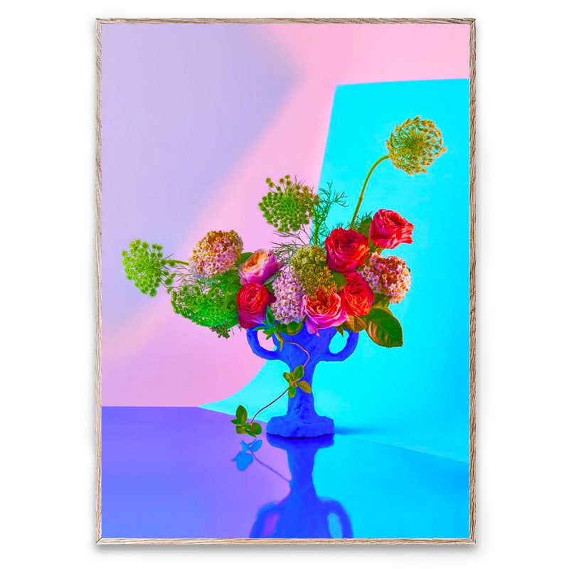 Bloom 02 | Cyan modern still-life by Uffe Buchard for Paper Collective