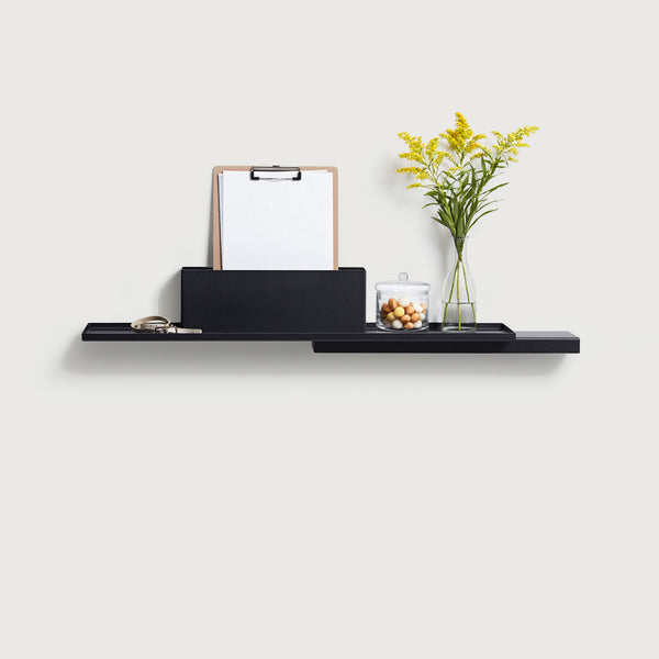 Puik design danish Duplex modular steel shelf unit black