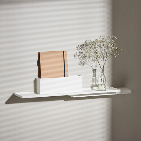 Puik design danish Duplex modular steel shelf unit white