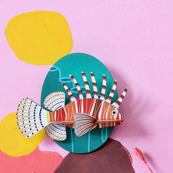 Studio Roof Lion Fish Recycled Paper Wall Decoration