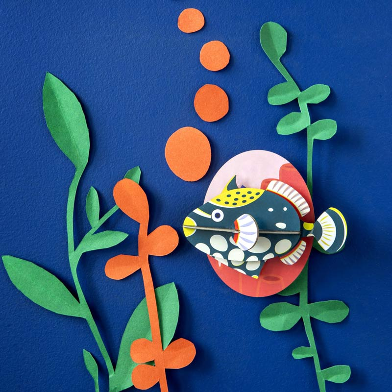 Studio Roof Clown Triggerfish Recycled Paper Wall Decoration