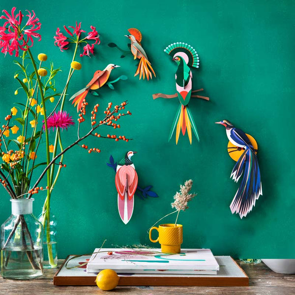 Paradise Bird Flores Wall Decoration