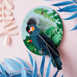 Studio Roof Grey Parrot wall decoration