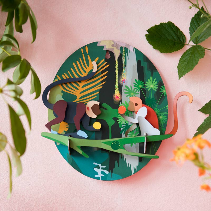 Studio Roof Jungle Monkeys Wall Decoration