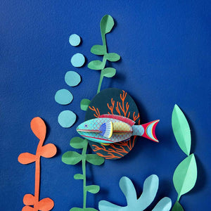 Studio Roof Parrotfish Recycled Paper Wall Decoration