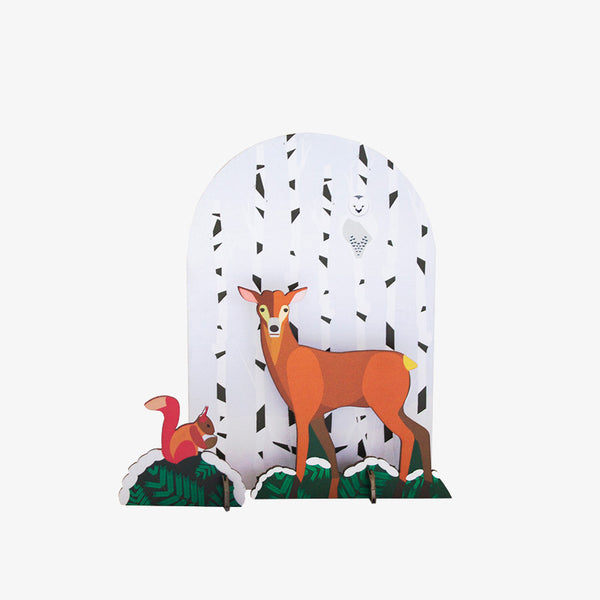 Studio Roof Wintertale Deer Pop-out Card