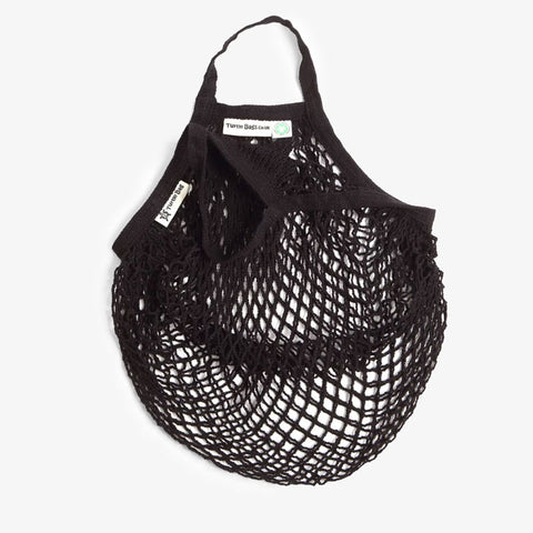 Short Handled String Bag Black