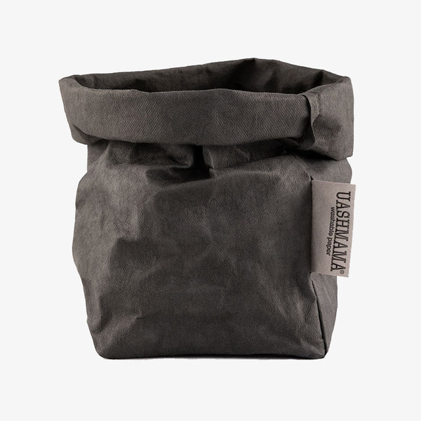 Uashmama washable paper bag dark grey