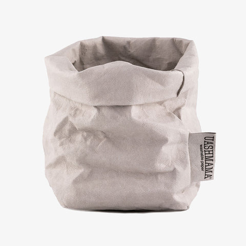 Uashmama washable paper bag grey