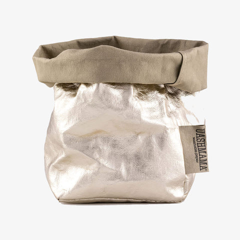 Uashmama washable paper bag sand platinum