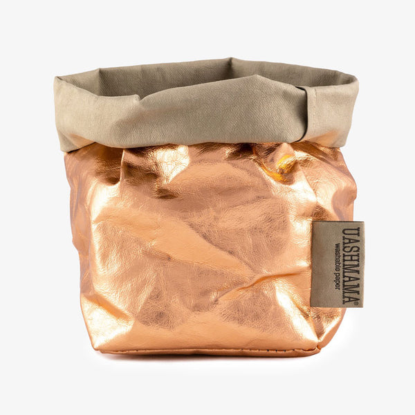 Uashmama washable Paper Bag Copper