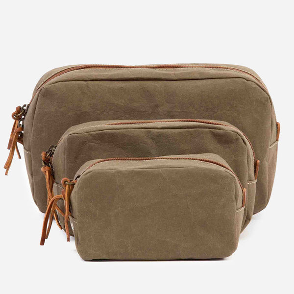 Uashmama Beauty Case washable paper Olive