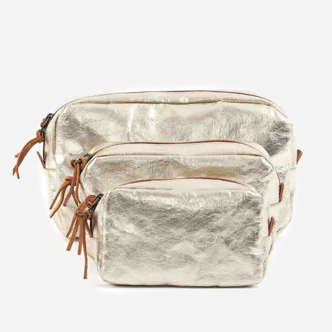 Uashmama Beauty Case washable paper Sand Platinum