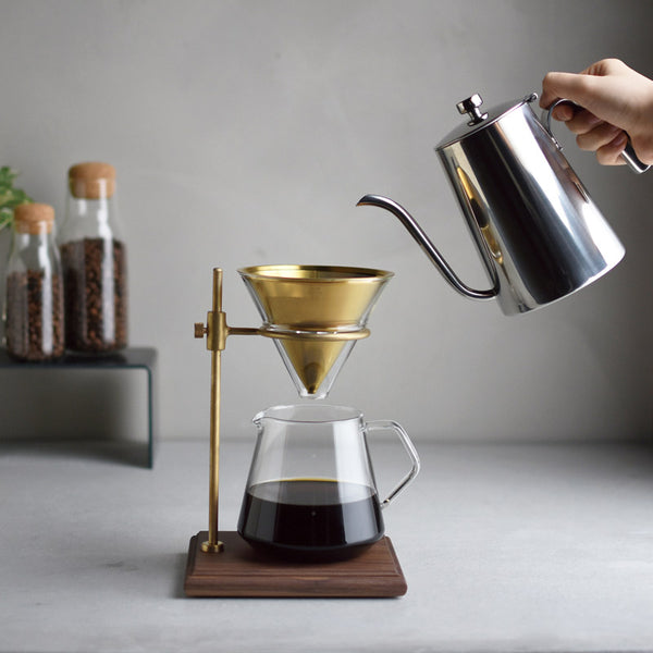 Kinto Slow Coffee Brewer Set Brass