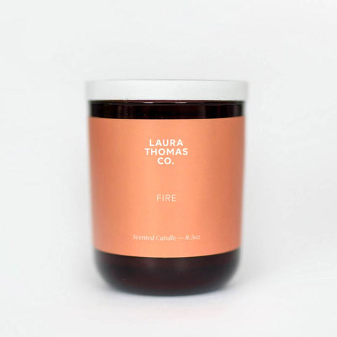 Laura Thomas Co soy candle Fire