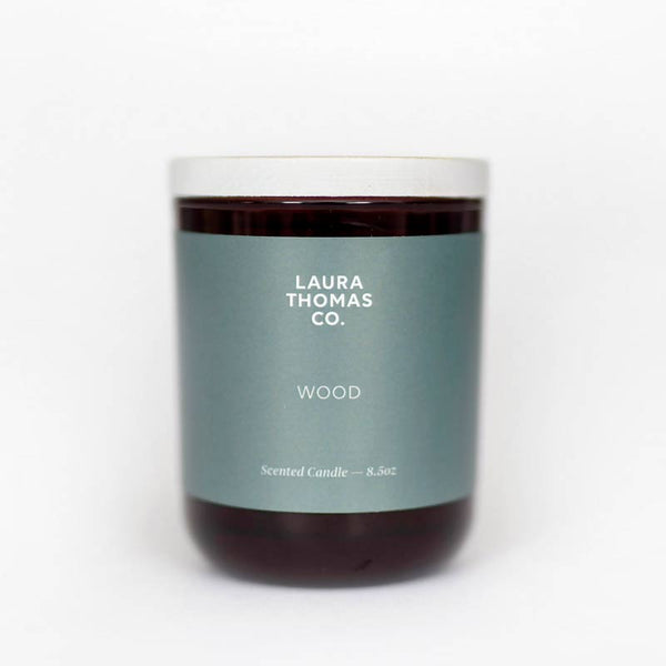 Laura Thomas wood coastal soy candle