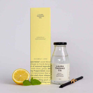 Lemon & Peppermint Scent Diffuser | Laura Thomas Co
