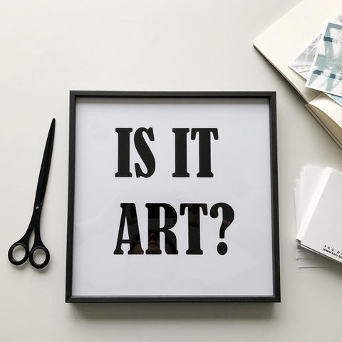 SOOuK Is It Art? Typography print
