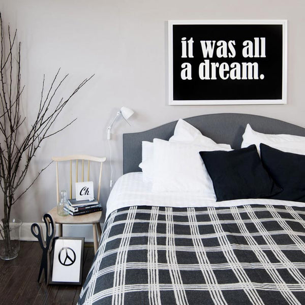 SOOuK It was all a dream Typography print