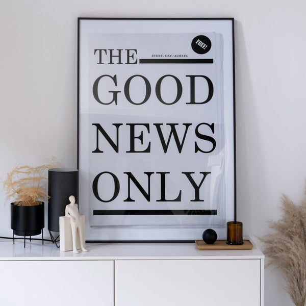 SOOuK The good news typography print