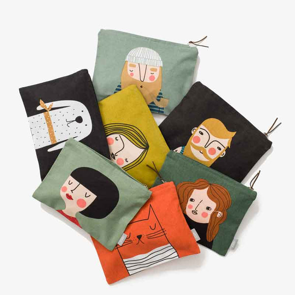Spira of Sweden graphic printed Toiletry Bags