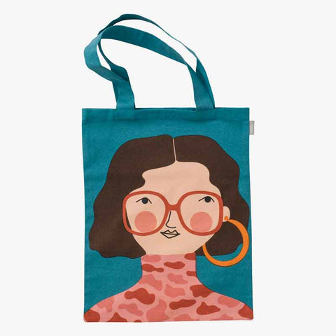 Spira of Sweden Hedda cotton colourful Tote Bag