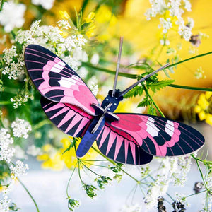 Studio Roof longwing Butterfly Wall Decoration shown amoung flowers