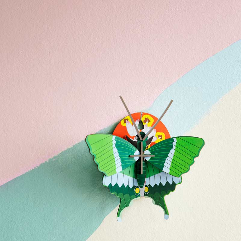 Studio Roof Swallowtail Butterfly Wall Decoration on pastel coloured wall