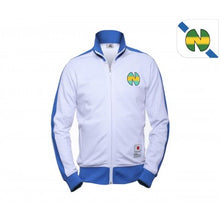 Veste zippée Olive et Tom New Team blanche et bleu eighteen clothing 18