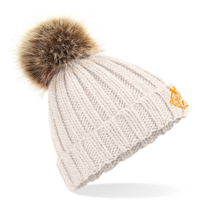 Bonnet pompon détachable Eighteen Clothing crème