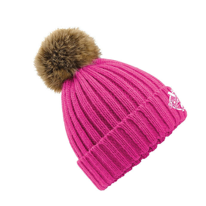 Bonnet pompon détachable Eighteen Clothing rose