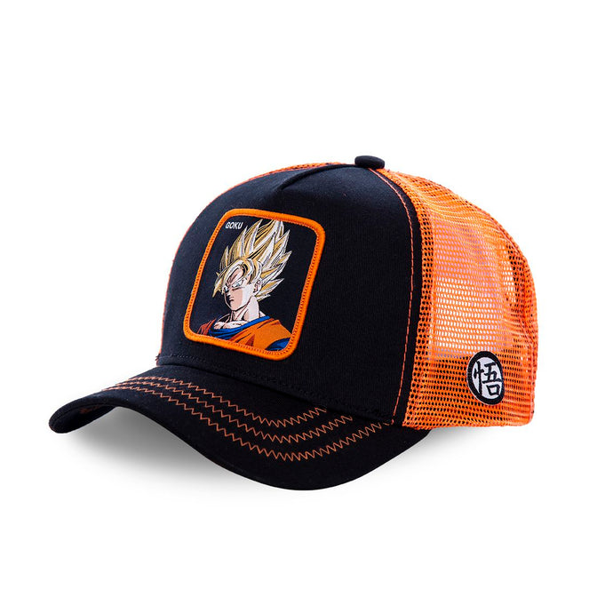 Dragon Ball Z Casquette Trucker San Goku saiyan noire Eighteen Clothing 18