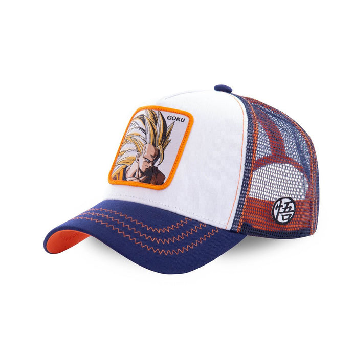 Dragon Ball Z Casquette Trucker San Goku super saiyan blanche Eighteen Clothing 18