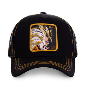 Dragon Ball Z Casquette Trucker San Goku super saiyan noire Eighteen