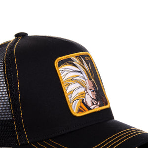 Dragon Ball Z Casquette Trucker San Goku super saiyan noire Eighteen Clothing