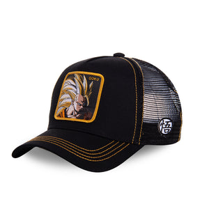 Dragon Ball Z Casquette Trucker San Goku super saiyan noire Eighteen Clothing 18