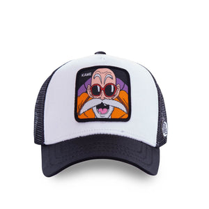 Dragon Ball Z Casquette trucker Tortue Géniale noire et blanche eighteen clothing