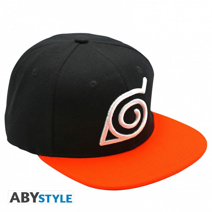 Naruto Shippuden casquette noire et orange distribuée par Eighteen Clothing 18