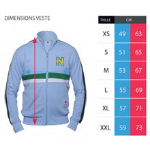 Veste zippée Olive et Tom New Team bleu ciel et blanche Eighteen 18