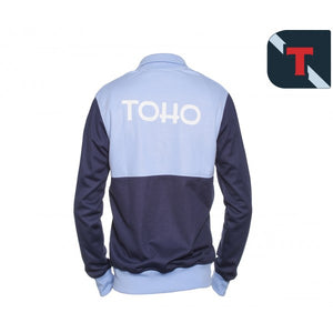 Veste zippée Olive et Tom TOHO bleue ciel et marine Eighteen Clothing