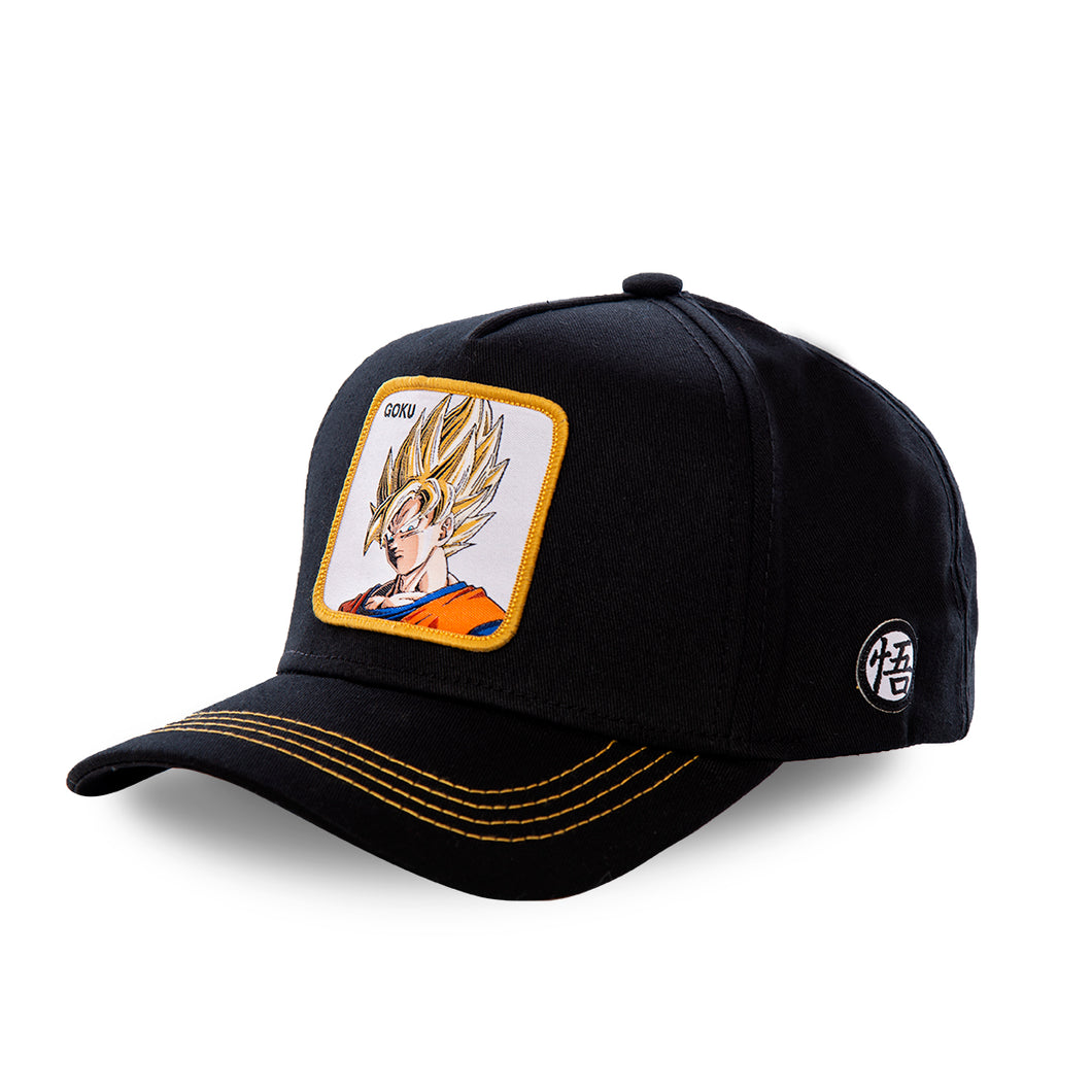 Dragon Ball Z Casquette San Goku noir en SSJ1 eighteen clothing