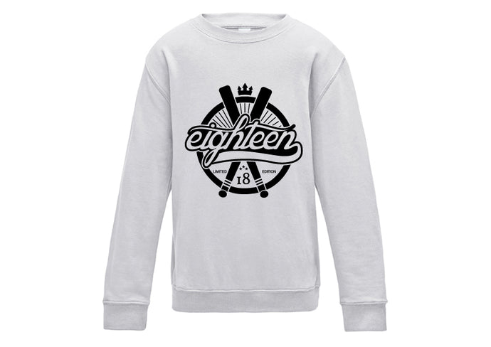 Sweat / Hoodies Eighteen baseball gris chiné