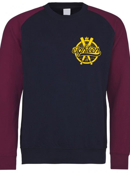 Sweat / Hoodies Eighteen baseball bleu marine/bordeaux