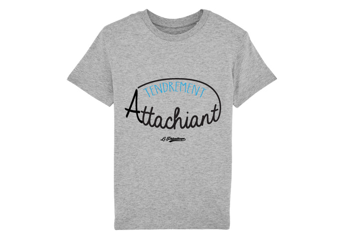 T-shirt Le Philanthrope Tendrement attachiant gris chiné