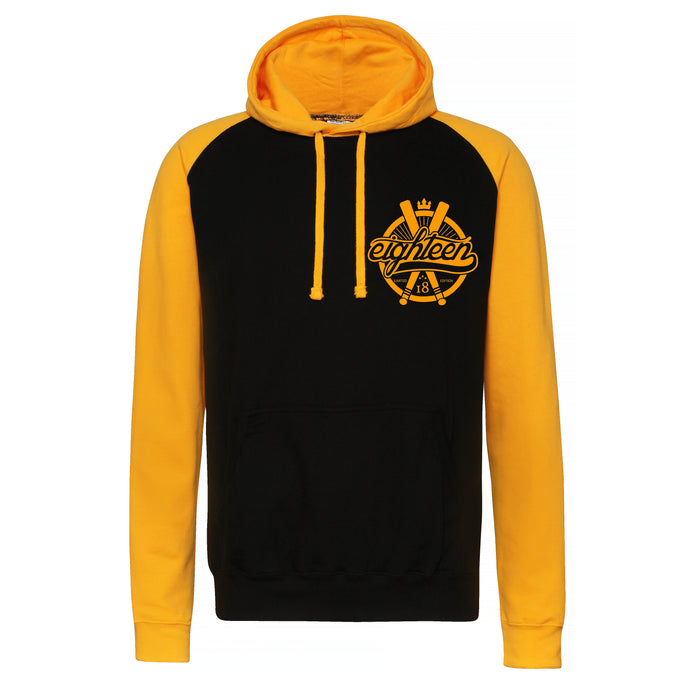 Sweat à capuche/Hoodies Eighteen noir et jaune or